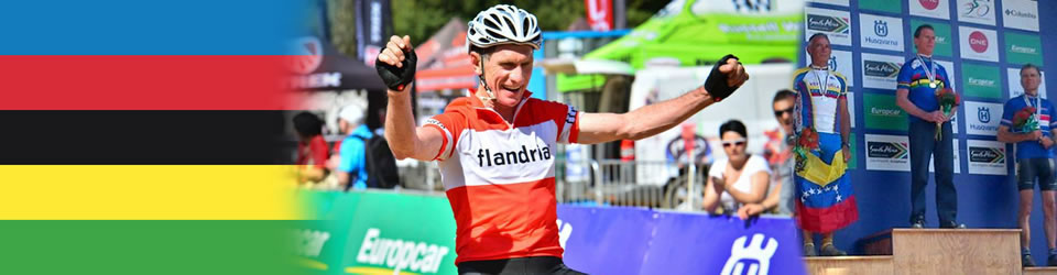 Linus van Onselen winning World Champion 60-64 age category